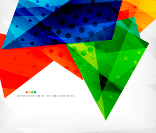 Abstract colorful overlapping shapes 3d compositionのイラスト素材 [FYI03098566]