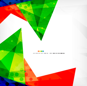 Abstract colorful overlapping shapes 3d compositionのイラスト素材 [FYI03098567]