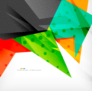 Abstract colorful overlapping shapes 3d compositionのイラスト素材 [FYI03098568]