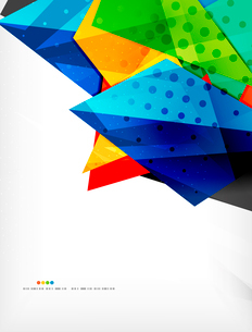 Abstract colorful overlapping shapes 3d compositionのイラスト素材 [FYI03098569]