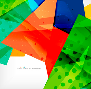 Abstract colorful overlapping shapes 3d compositionのイラスト素材 [FYI03098570]