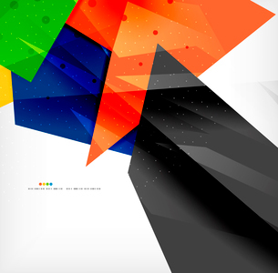 Abstract colorful overlapping shapes 3d compositionのイラスト素材 [FYI03098571]