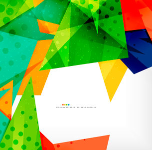 Abstract colorful overlapping shapes 3d compositionのイラスト素材 [FYI03098572]