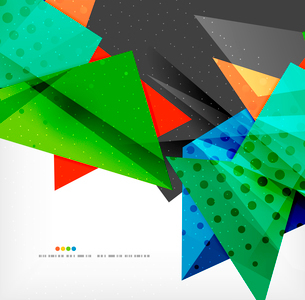 Abstract colorful overlapping shapes 3d compositionのイラスト素材 [FYI03098573]