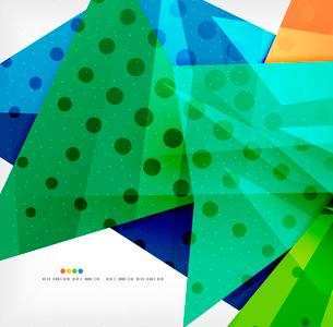 Abstract colorful overlapping shapes 3d compositionのイラスト素材 [FYI03098574]