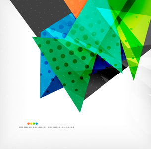 Abstract colorful overlapping shapes 3d compositionのイラスト素材 [FYI03098575]