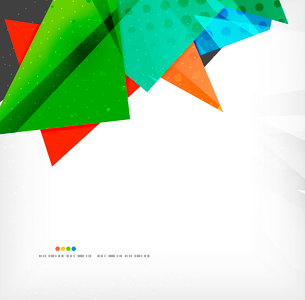 Abstract colorful overlapping shapes 3d compositionのイラスト素材 [FYI03098576]