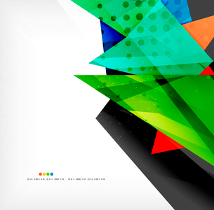 Abstract colorful overlapping shapes 3d compositionのイラスト素材 [FYI03098580]