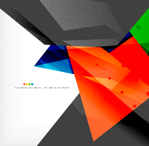 Abstract colorful overlapping shapes 3d compositionのイラスト素材 [FYI03098581]