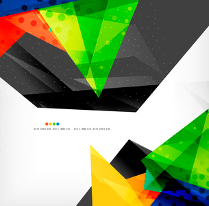 Abstract colorful overlapping shapes 3d compositionのイラスト素材 [FYI03098582]