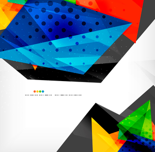 Abstract colorful overlapping shapes 3d compositionのイラスト素材 [FYI03098583]
