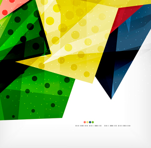 Modern 3d abstract shapes on white layout. Abstract backgroundのイラスト素材 [FYI03098971]
