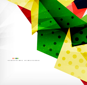 Modern 3d abstract shapes on white layout. Abstract backgroundのイラスト素材 [FYI03098973]