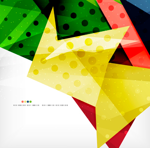Modern 3d abstract shapes on white layout. Abstract backgroundのイラスト素材 [FYI03098974]