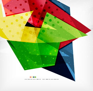 Modern 3d abstract shapes on white layout. Abstract backgroundのイラスト素材 [FYI03098976]