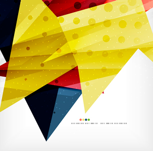Modern 3d abstract shapes on white layout. Abstract backgroundのイラスト素材 [FYI03098990]