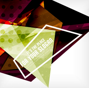 Modern 3d glossy overlapping triangles in different colors with texture and light effects. Businessのイラスト素材 [FYI03099389]