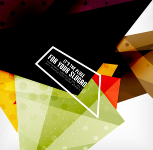 Modern 3d glossy overlapping triangles in different colors with texture and light effects. Businessのイラスト素材 [FYI03099392]