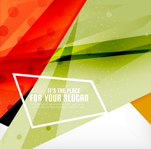 Modern 3d glossy overlapping triangles in different colors with texture and light effects. Businessのイラスト素材 [FYI03099406]