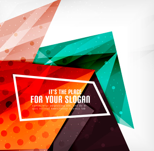 Modern 3d glossy overlapping triangles in different colors with texture and light effects. Businessのイラスト素材 [FYI03099428]