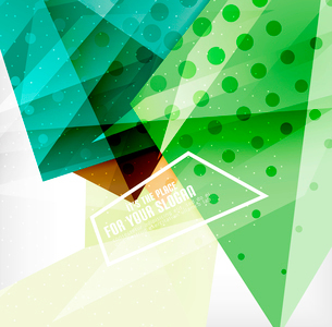 Modern 3d glossy overlapping triangles in different colors with texture and light effects. Businessのイラスト素材 [FYI03099434]