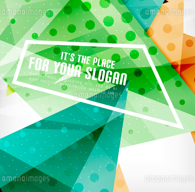 Modern 3d glossy overlapping triangles in different colors with texture and light effects. Businessのイラスト素材 [FYI03099441]