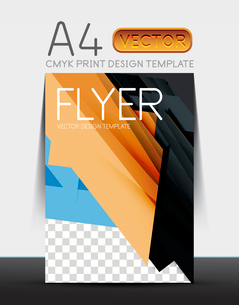Abstract modern flyer brochure design template with sample text or business A4 booklet coverのイラスト素材 [FYI03099444]