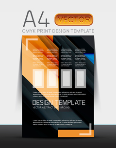Abstract modern flyer brochure design template with sample text or business A4 booklet coverのイラスト素材 [FYI03099450]
