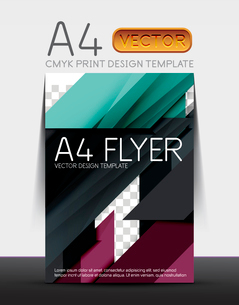 Abstract modern flyer brochure design template with sample text or business A4 booklet coverのイラスト素材 [FYI03099453]