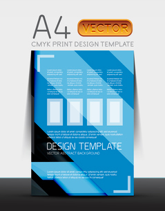 Abstract modern flyer brochure design template with sample text or business A4 booklet coverのイラスト素材 [FYI03099454]
