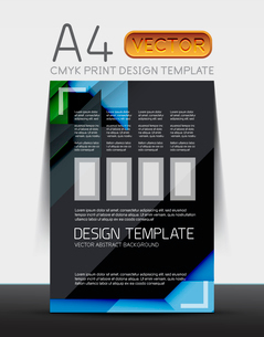 Abstract modern flyer brochure design template with sample text or business A4 booklet coverのイラスト素材 [FYI03099455]