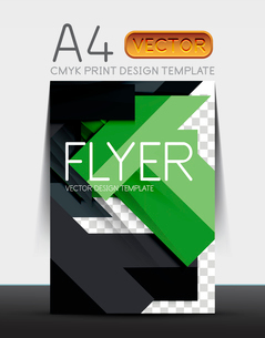 Abstract modern flyer brochure design template with sample text or business A4 booklet coverのイラスト素材 [FYI03099456]