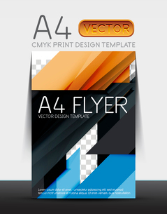 Abstract modern flyer brochure design template with sample text or business A4 booklet coverのイラスト素材 [FYI03099457]
