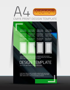 Abstract modern flyer brochure design template with sample text or business A4 booklet coverのイラスト素材 [FYI03099460]