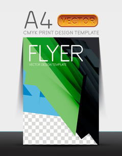 Abstract modern flyer brochure design template with sample text or business A4 booklet coverのイラスト素材 [FYI03099462]