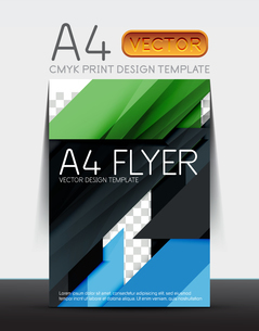 Abstract modern flyer brochure design template with sample text or business A4 booklet coverのイラスト素材 [FYI03099463]