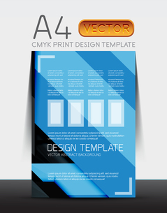 Abstract modern flyer brochure design template with sample text or business A4 booklet coverのイラスト素材 [FYI03099464]