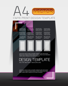 Abstract modern flyer brochure vector design template with sample text or business A4 booklet coverのイラスト素材 [FYI03099465]