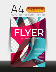 Vector A4 CMYK Modern Flyer Designのイラスト素材 [FYI03099666]