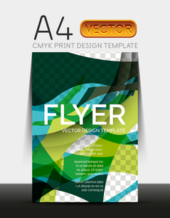 Vector A4 CMYK Modern Flyer Designのイラスト素材 [FYI03099670]