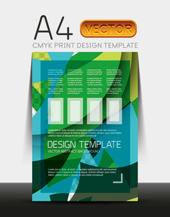 Vector A4 CMYK Modern Flyer Designのイラスト素材 [FYI03099673]