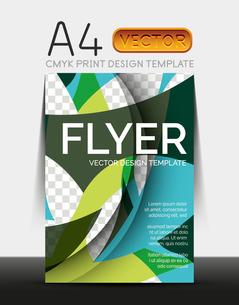 Vector A4 CMYK Modern Flyer Designのイラスト素材 [FYI03099679]