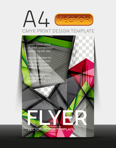 Vector A4 CMYK Modern Flyer Designのイラスト素材 [FYI03099708]