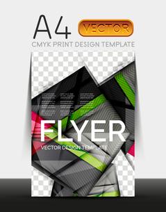 Vector A4 CMYK Modern Flyer Designのイラスト素材 [FYI03099710]