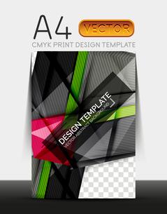 Vector A4 CMYK Modern Flyer Designのイラスト素材 [FYI03099712]