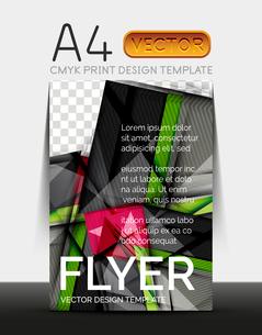 Vector A4 CMYK Modern Flyer Designのイラスト素材 [FYI03099713]
