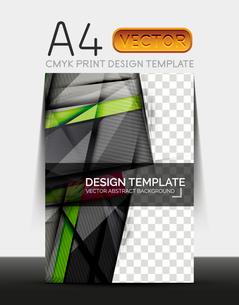 Vector A4 CMYK Modern Flyer Designのイラスト素材 [FYI03099714]