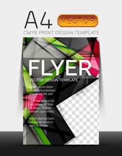 Vector A4 CMYK Modern Flyer Designのイラスト素材 [FYI03099715]