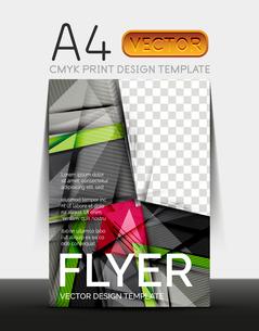 Vector A4 CMYK Modern Flyer Designのイラスト素材 [FYI03099716]