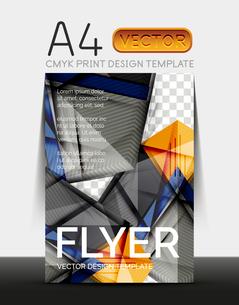 Vector A4 CMYK Modern Flyer Designのイラスト素材 [FYI03099719]